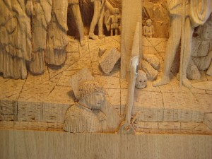 Crucifixion Woodcarving at Lehman's