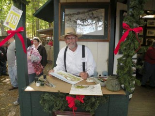 Old-Fashioned Christmas in the Woods